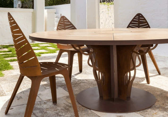 corten-forniture-INTRECCIO | Corten table-TT0660000